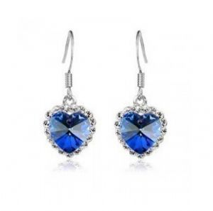 Titanic Heart of the Ocean Earrings
